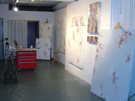 Art studio with Clusters, 2004