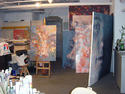 Studio filled with paintings, 2004
